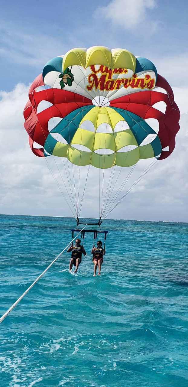 Parsailing in Turks and Caicos